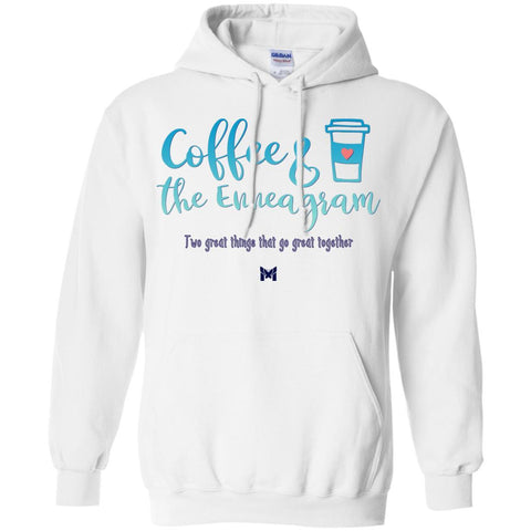 """Coffee & The Enneagram - Go Great Together"" - Unisex Hoodie Sweatshirt-Sweatshirts-The Miracles Store"