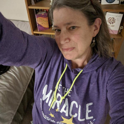 """Be The Miracle"" - Women's Long-Sleeve Lightweight T-Shirt Hoodie"
