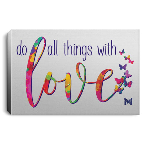 "Do All Things With Love - Canvas Print-Housewares-12"" x 8"" (Small)-The Miracles Store"