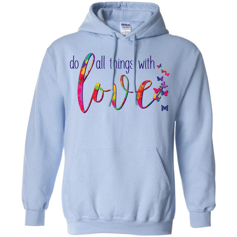 Do All Things with Love - Unisex Pullover Hoodie-Apparel-Light Blue-S-The Miracles Store