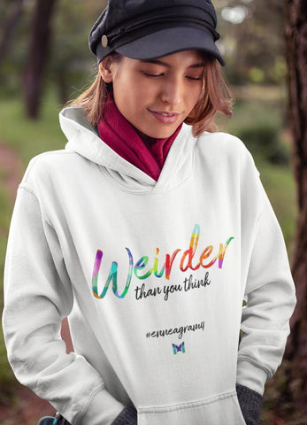 "Enneagram 4 ""Weirder Than You Think"" - Sweatshirt Hoodie-Apparel-White-S-The Miracles Store"