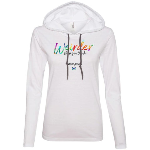 "Enneagram 4 ""Weirder Than You Think"" Women's Lightweight T-Shirt Hoodie-Apparel-White-S-The Miracles Store"