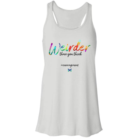 "Enneagram 4 ""Weirder Than You Think"" - Women's Shirts-Apparel-Racerback Tank-White-S-The Miracles Store"