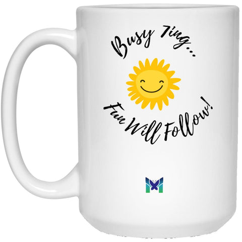 "Enneagram 7 ""Busy 7ing"" Coffee Cup-Apparel-White-Large (15oz)-The Miracles Store"