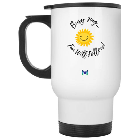 "Enneagram 7 ""Busy 7ing"" Travel Mug-Drinkware-Default-The Miracles Store"