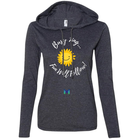 "Enneagram 7 ""Busy 7ing"" Women's Lightweight Hoodie T-Shirt-T-Shirts-Dark Grey-S-The Miracles Store"