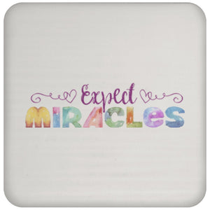 Expect Miracles - Coaster (Purple) - Drinkware - White - One Size -