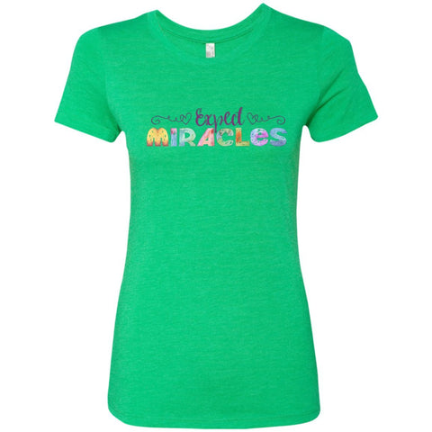 Expect Miracles Tees and Tops - Playful Motif - Apparel - Crew Neck Tee - Envy - Small