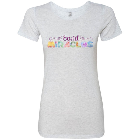 Expect Miracles Tees and Tops - Playful Motif - Apparel - Crew Neck Tee - Heather White - Small