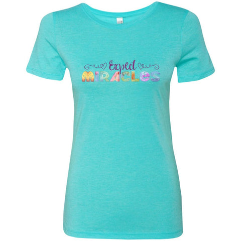 Expect Miracles Tees and Tops - Playful Motif - Apparel - Crew Neck Tee - Tahiti Blue - Small
