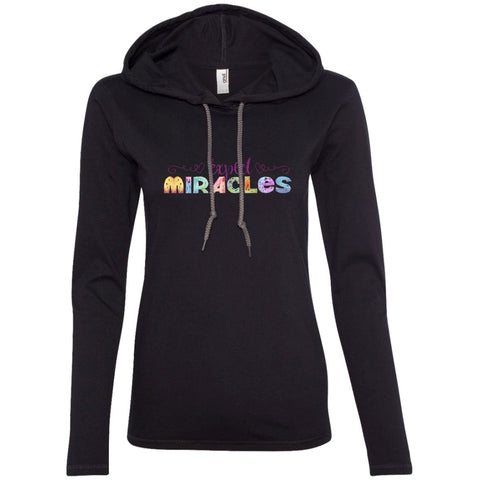 Expect Miracles Tees and Tops - Playful Motif - Apparel - Long Sleeve Tee - Black/Dark Grey - Small