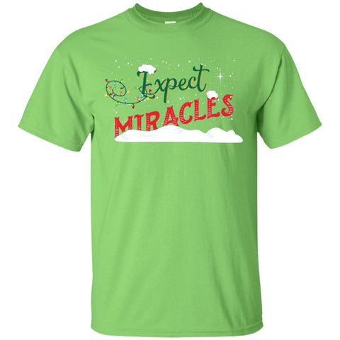 Expect Miracles Tees & Tops - Holiday Motif - Short Sleeve - Lime - Small -