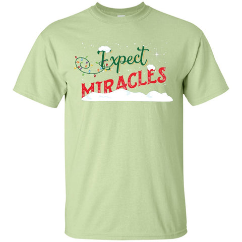 Expect Miracles Tees & Tops - Holiday Motif - Short Sleeve - Pistachio - Small -