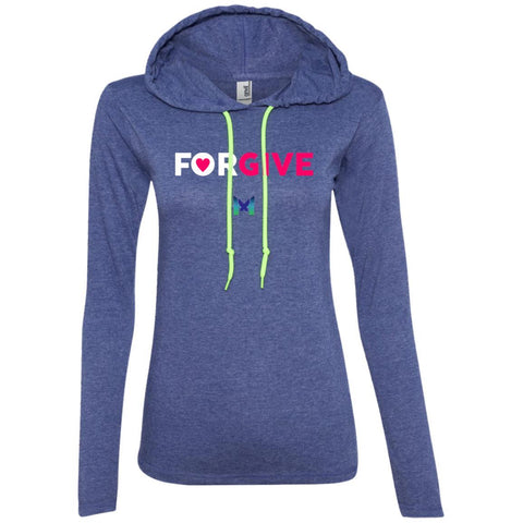 """Forgive"" - Women's Lightweight Hoodie T-Shirt-Apparel-Dark Grey-S-The Miracles Store"