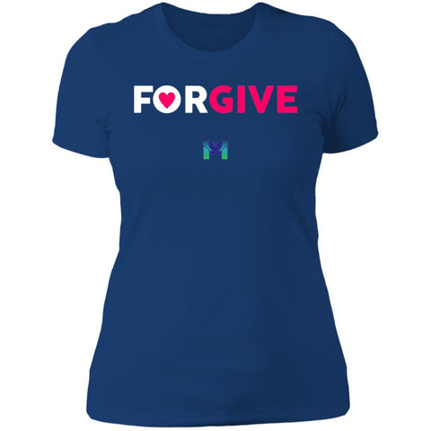 """Forgive"" - Women's T-Shirts-Apparel-Boyfriend Tee-Royal Blue-S-The Miracles Store"