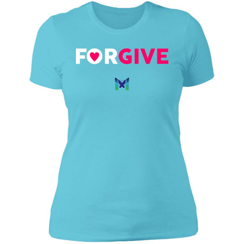 """Forgive"" - Women's T-Shirts-Apparel-Boyfriend Tee-Teal-S-The Miracles Store"