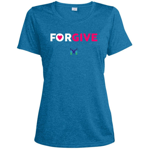 """Forgive"" - Women's T-Shirts-Apparel-Dri-Fit Tee-Blue-S-The Miracles Store"