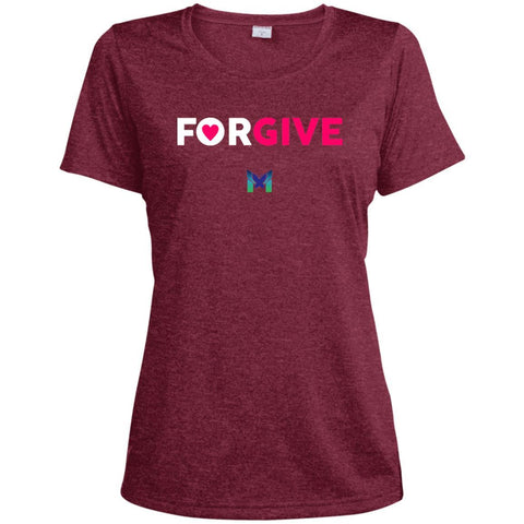 """Forgive"" - Women's T-Shirts-Apparel-Dri-Fit Tee-Cardinal-S-The Miracles Store"