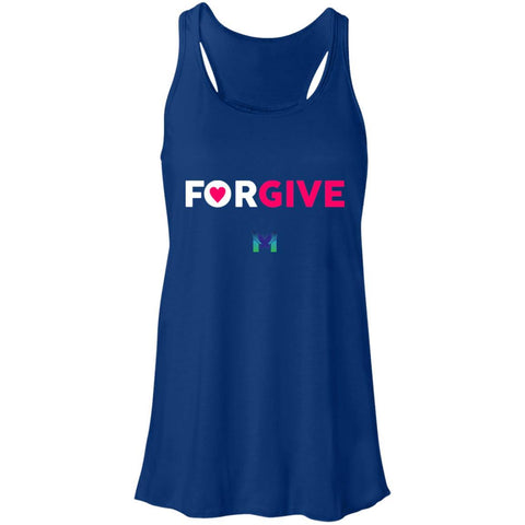 """Forgive"" - Women's T-Shirts-Apparel-Racerback Tank-Royal Blue-S-The Miracles Store"