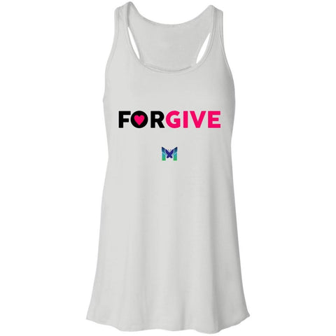 """Forgive"" - Women's T-Shirts-Apparel-Racerback Tank-White-S-The Miracles Store"