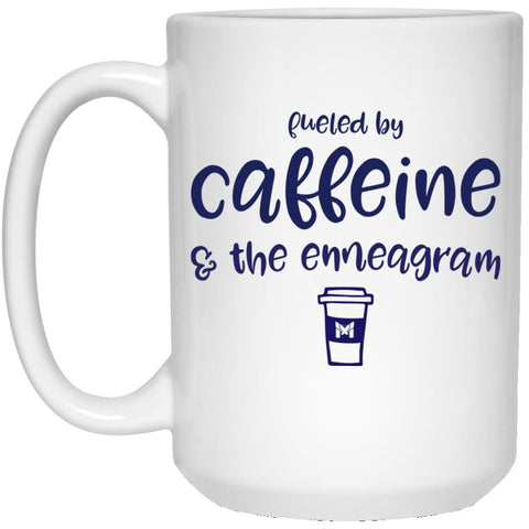 Fueled By Caffeine and the Enneagram - Coffee Cup / Mug-Apparel-White-Small (11oz)-The Miracles Store
