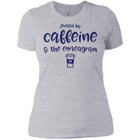 Fueled By Caffeine and the Enneagram - Women's T-Shirts-Apparel-Boyfriend Tee-Heather Grey-X-Small-The Miracles Store