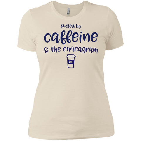 Fueled By Caffeine and the Enneagram - Women's T-Shirts-Apparel-Boyfriend Tee-Ivory-X-Small-The Miracles Store