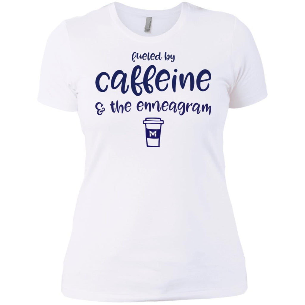 Fueled By Caffeine and the Enneagram - Women's T-Shirts-Apparel-Boyfriend Tee-White-X-Small-The Miracles Store
