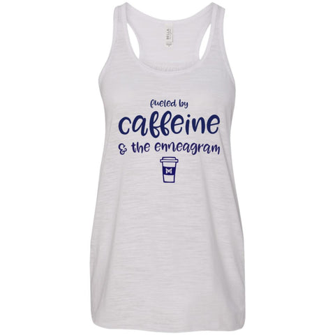Fueled By Caffeine and the Enneagram - Women's T-Shirts-Apparel-Flowy Racerback-Vintage White-X-Small-The Miracles Store