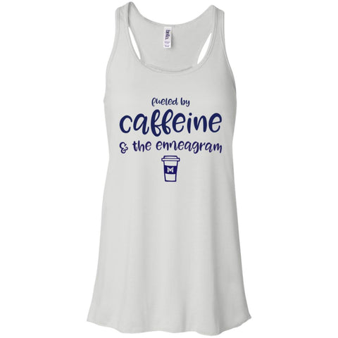 Fueled By Caffeine and the Enneagram - Women's T-Shirts-Apparel-Flowy Racerback-White-X-Small-The Miracles Store