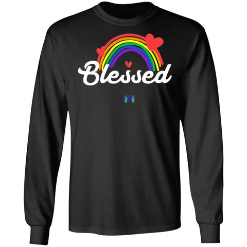 """Blessed"" Long Sleeve Unisex Shirt - Rainbow"
