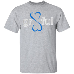 Gr8Ful Heart T-shirt - Men's/Unisex - Short Sleeve - Sport Grey - Small -