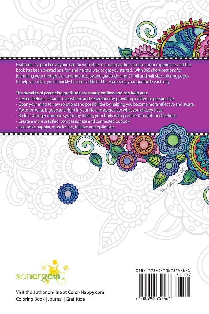 gratitude and love a coloring book and gratitude journal for celebrating abundance joy and