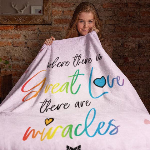 """Great Love"" Plush Fleece Blanket-Blankets-The Miracles Store"