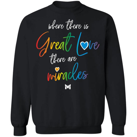"""Great Love"" Unisex Crewneck Sweatshirt-Sweatshirts-The Miracles Store"