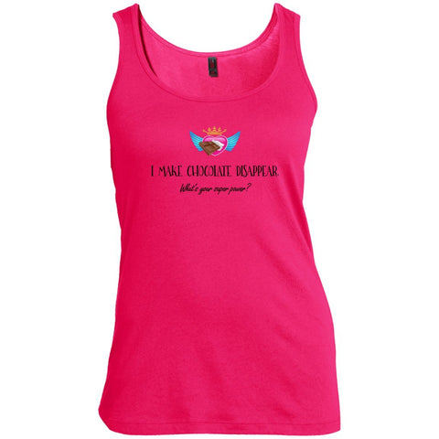 I Make Chocolate Disappear Tees & Tanks - Apparel - Women's Scoop Neck Tank Top - Dark Fuchsia - X-Small
