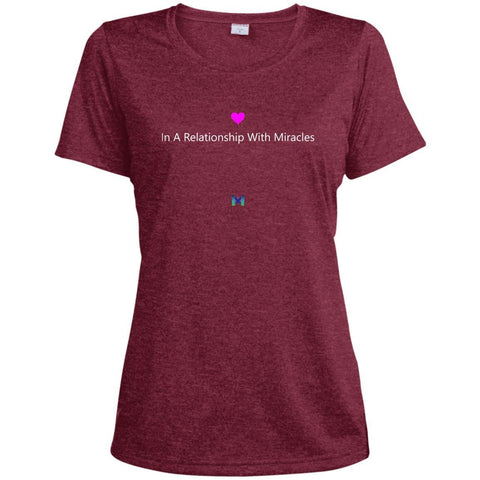 """In A Relationship With Miracles"" - Women's Shirts-Apparel-Dri-Fit Tee-Red-S-The Miracles Store"