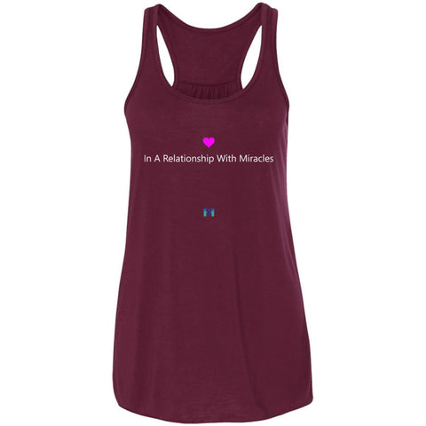 """In A Relationship With Miracles"" - Women's Shirts-Apparel-Racerback Tank-Maroon-S-The Miracles Store"
