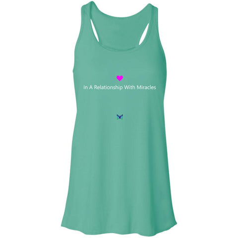 """In A Relationship With Miracles"" - Women's Shirts-Apparel-Racerback Tank-Teal-S-The Miracles Store"