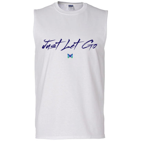 Just Let Go - Basic Men's Shirts-Apparel-Men's Sleeveless T-Shirt-White-S-The Miracles Store