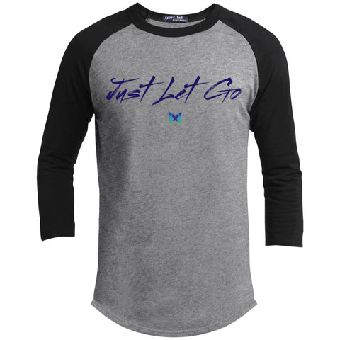 Just Let Go - Simple - Men's Baseball Tee-Apparel-Heather Grey/Black-S-The Miracles Store