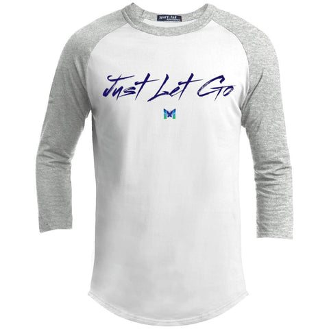 Just Let Go - Simple - Men's Baseball Tee-Apparel-White/Heather Grey-S-The Miracles Store
