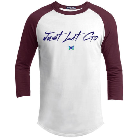 Just Let Go - Simple - Men's Baseball Tee-Apparel-White/Maroon-S-The Miracles Store