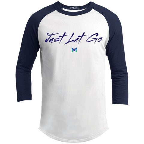 Just Let Go - Simple - Men's Baseball Tee-Apparel-White/Navy-S-The Miracles Store
