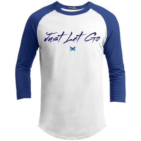 Just Let Go - Simple - Men's Baseball Tee-Apparel-White/Royal-S-The Miracles Store