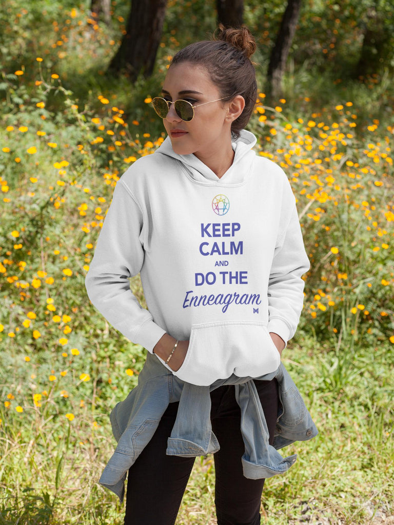 """Keep Calm and Do The Enneagram"" - Unisex Sweatshirt Hoodie-Sweatshirts-White-S-The Miracles Store"