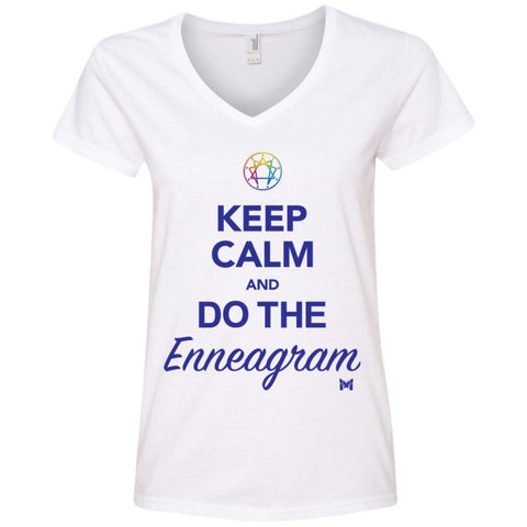"""Keep Calm and Do The Enneagram"" - Women's Shirts-Apparel-The Miracles Store"