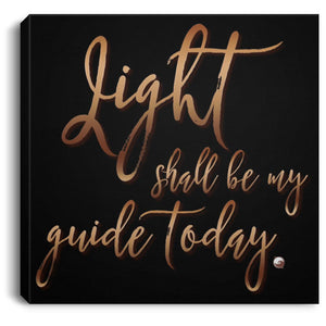 "Light Shall Be My Guide Today - Canvas Wall Art Print-Housewares-8"" x 8""-The Miracles Store"