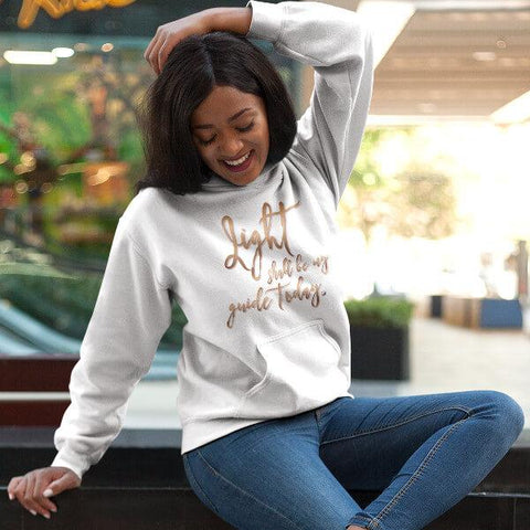 """Light Shall Be My Guide Today"" Unisex Hoodie Sweatshirt (ACIM)"