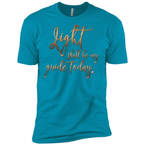 """Light Shall Be My Guide Today"" - Men's Supersoft TShirt - T-Shirts - Turquoise - Small -"